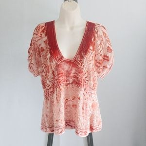 Marc Jacobs Romantic Crushed Velvet Overlay Top